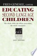 Educating Second Language Children