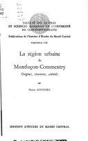 La Région urbaine de Montluçon-Commentry