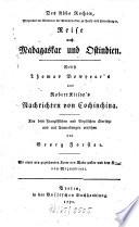 Des Abbe Rochon ... Reise nach Madagaskar und Ostindien