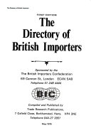 The directory of British importers