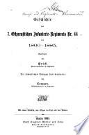Geschichte des 7. Ostpreussischen Infanterie-Regiments Nr. 44 von 1860-1885