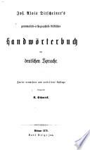 Grammatisch orthographisch stilistisches Handw  rterbuch der deutschen Sprache
