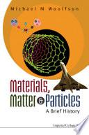 Materials  Matter   Particles