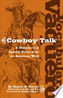 Vocabulario Vaquero Cowboy Talk