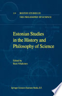 Estonian Studies in the History and Philosophy of Science