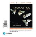 Listen to This  Books a la Carte Edition