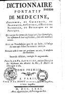Dictionnaire portatif de médecine