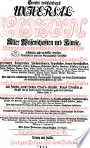 Grosses vollständiges Universal-Lexicon aller Wissenschafften und Künste ...