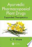 Ayurvedic Pharmacopoeial Plant Drugs