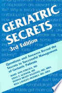 Geriatric Secrets : and completely revised new edition. geriatric...