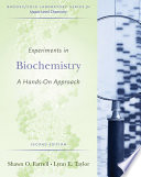 Experiments In Biochemistry A Hands On Approach book