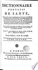 Dictionnaire Portatif de Sante, 2