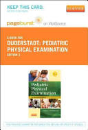 Pediatric Physical Examination   Pageburst E book on Vitalsource Printed Access Code