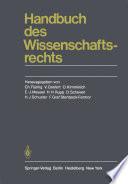 Handbuch des Wissenschaftsrechts