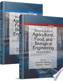 Encyclopedia of Agricultural  Food  and Biological Engineering  Second Edition   2 Volume Set  Print Version