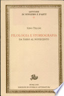 Filologia e storiografia  Da Tasso al Novecento