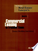 Manual on Commercial Leasing in Troubled Times