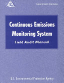Continuous Emissions Monitoring Systems  CEMS  Field Audit Manual