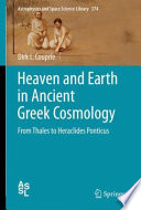 Heaven and Earth in Ancient Greek Cosmology