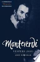 Monteverdi Vespers 1610  book