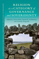 Religion As A Category Of Governance And Sovereignty book