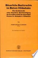 Bäuerliche Besitzrechte im Bistum Hildesheim
