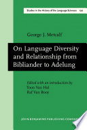 On Language Diversity and Relationship from Bibliander to Adelung