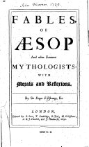 download ebook fables of aesop and other eminent mythologisto with morals and reflecions by roger l\'estronge pdf epub