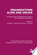 Organizations Alike and Unlike  RLE  Organizations