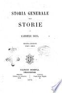 Storia generale delle storie Gabriele Rosa