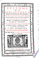 Epitome de la bibliotheca oriental  y occidental  nautica  y geografica
