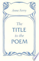The Title to the Poem