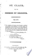 St  Clair  Or  The Heiress of Desmond