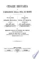 Cesare Beccaria e l abolizione della pena di morte