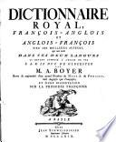 Dictionnaire Royal, Français-Anglois Et Anglois-François