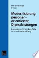 Modernisierung personenorientierter Dienstleistungen