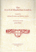 The A to Z of Elizabethan London