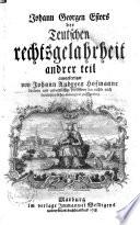 Johann Georgen Estors der Teutschen rechtsgelahrheit