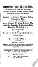 Ungedruckte  eigenh  ndige vertrauliche Briefe und amtliche Schreiben aus den Jahren 1627 bis 1634