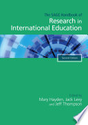 The SAGE Handbook of Research in International Education Book PDF
