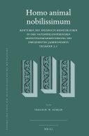 Homo animal nobilissimum (2 vols)