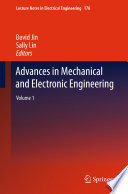 Advances In Mechanical And Electronic Engineering book