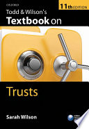 Todd Wilson S Textbook On Trusts