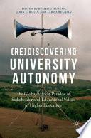 Re Discovering University Autonomy