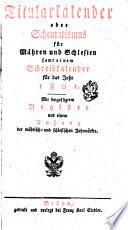 Schematismus für Mähren u. Schlesien, sammt einem Schreibkalender