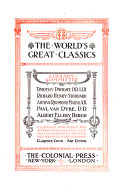 The World s Great Classics  Principles of political economy  by J S  Mill  2 v
