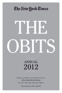 The Obits  The New York Times Annual 2012