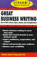 Schaum's Quick Guide to Great Business Writing
