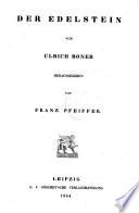 """""""Der"""" Edelstein [hrsg. von Franz Pfeiffer]"""
