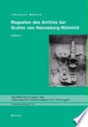Regesten des Archivs der Grafen von Henneberg-Römhild